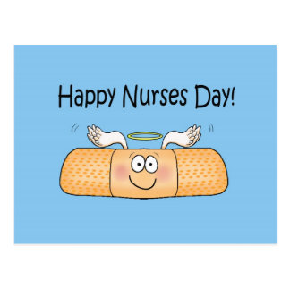 Happy Nurses Nurse Nurse's Day Whimsical Bandage Postcard