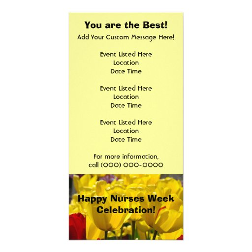 Happy Nurses Week Celebration Event Cards custom Picture Card