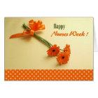 Happy Nurses Week. Colourful Daisies Greeting Card