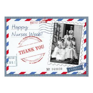 Happy Nurses Week. Vintage Design Flat Cards 13 Cm X 18 Cm Invitation Card