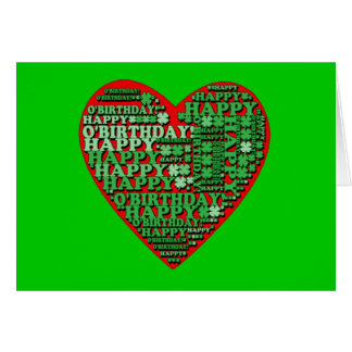 Happy O Birthday St Patricks Day Birthday Tshirt Greeting Cards