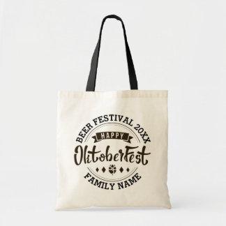 Happy Octoberfest Modern Typography Beer Festival Tote Bag