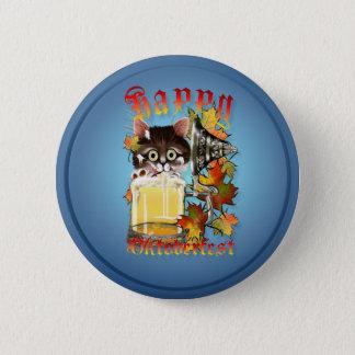 Happy Oktoberfest Beer Kitty Buttons
