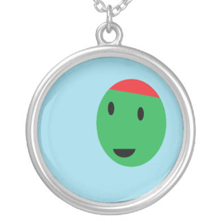 Happy Olive Silver Plated Necklace