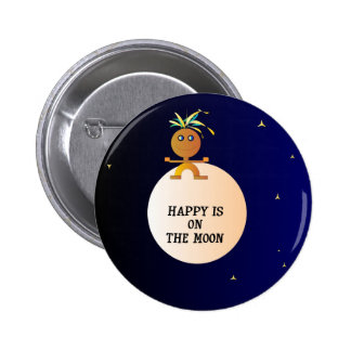 Happy on the Moon Childrens Buttons