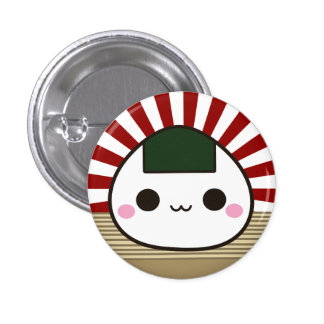 Happy Onigiri 3 Cm Round Badge