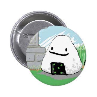 Happy Onigiri 6 Cm Round Badge