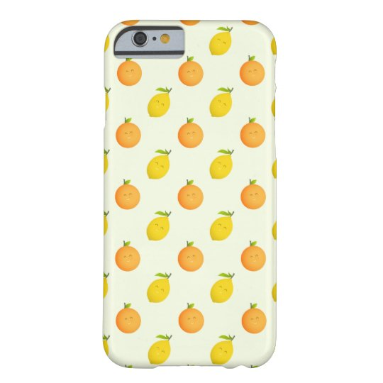 Happy Orange and Lemon Pattern iPhone 6/6s Case