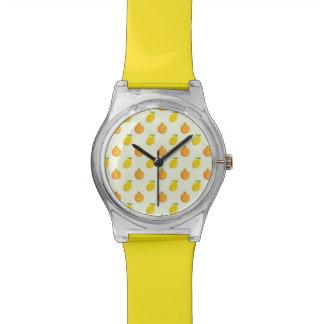 Happy Orange and Lemon Pattern Women's Watch