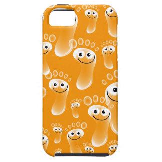 Happy Orange Feet iPhone 5 Cover
