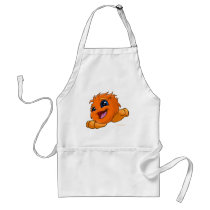 Happy orange JubJub aprons