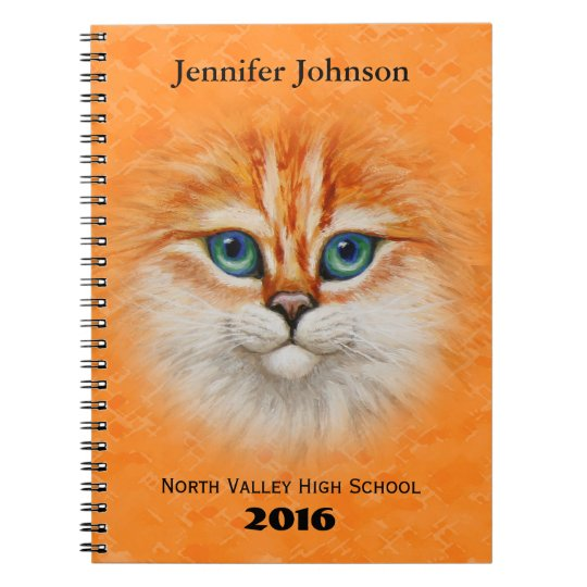 Happy Orange Kitty Face Notebook