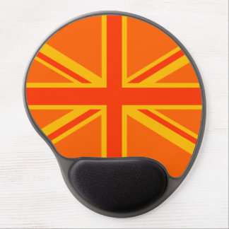 Happy Orange Union Jack British Flag Swag Gel Mouse Pad