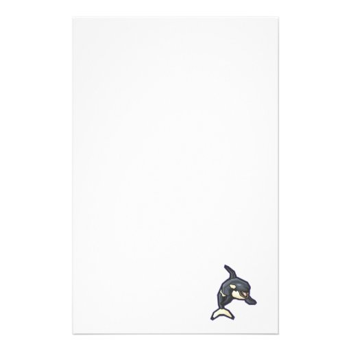 happy orca killer whale stationery