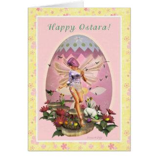 Happy Ostara - Vernal Equinox - Spring Faerie Greeting Card