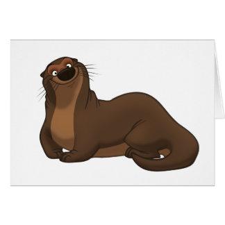 Happy Otter Card (Blank Inside)
