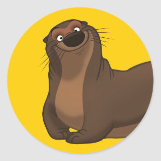 Happy Otter Stickers