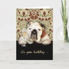 happy over the hill birthday, humour, bulldog card