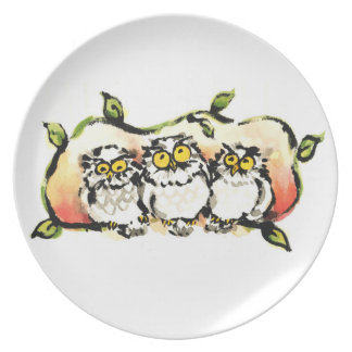 Happy owl brothers/the wax three sibling who is party plates