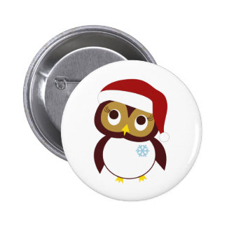 Happy Owl-idays 6 Cm Round Badge