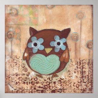 Happy Owl Poster