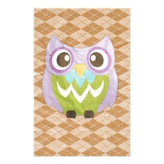 Happy Owl Stationery