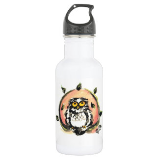 Happy owl/the wax which is wiped 532 ml water bottle