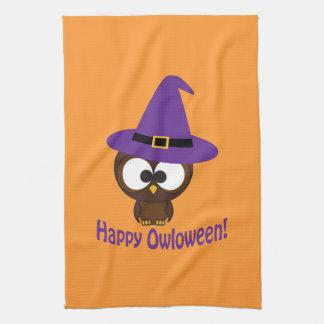 Happy Owloween Tea Towel