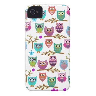 happy owls iPhone 4 Case-Mate cases