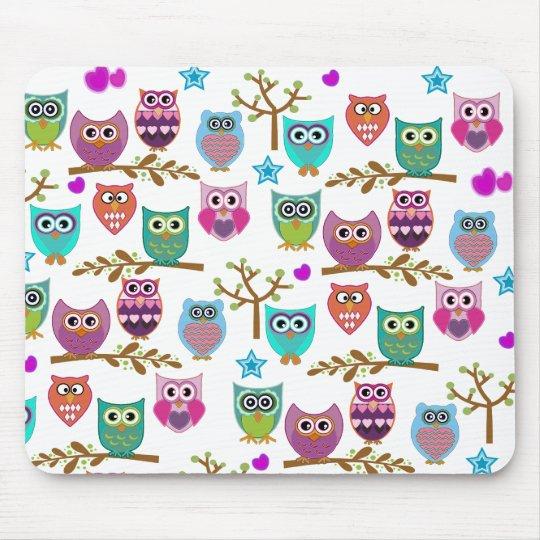 happy owls mouse mat