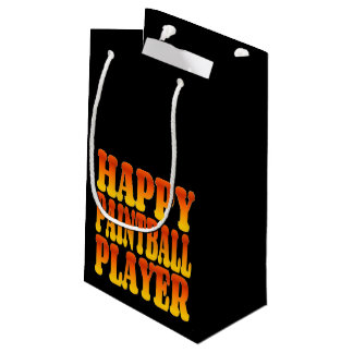 Happy Paintball Player Small Gift Bag