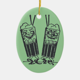 Happy Pair of Sodas Christmas Ornament