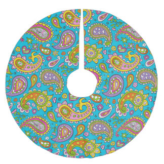 Happy Paisley Brushed Polyester Tree Skirt