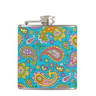 Happy Paisley Hip Flask