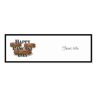 Happy Pancake Day Business Card Templates