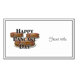Happy Pancake Day Business Card Template
