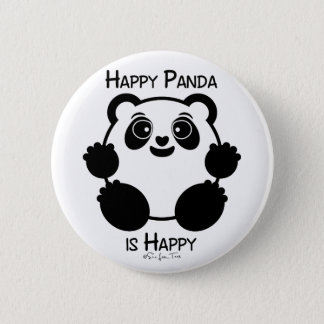 Happy Panda 6 Cm Round Badge