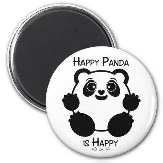 Happy Panda 6 Cm Round Magnet