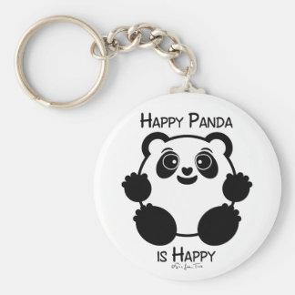 Happy Panda Basic Round Button Key Ring
