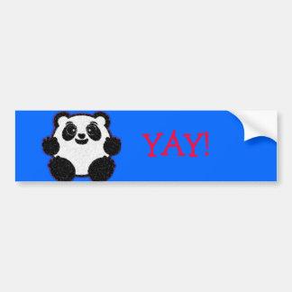 Happy Panda Bumper Stickers