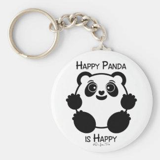 Happy Panda Key Ring