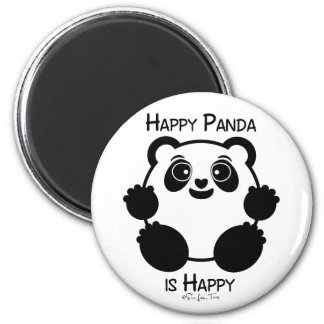Happy Panda Magnet