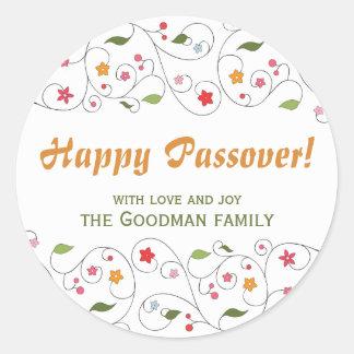 Happy Passover - Gif Label Round Sticker