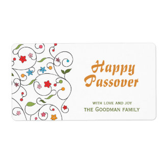 Happy Passover - Gif Label Shipping Label