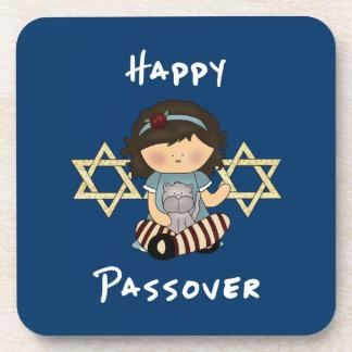 Happy Passover Girl Beverage Coaster