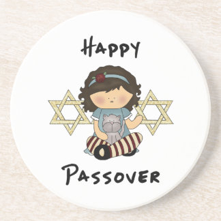 Happy Passover Girl Drink Coasters