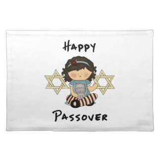 Happy Passover Girl Place Mats