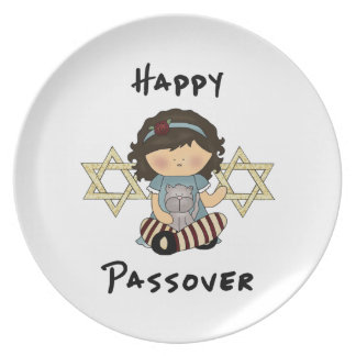 Happy Passover Girl Plates