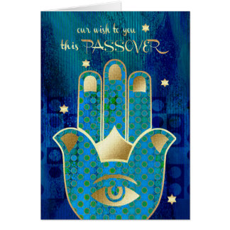 Happy Passover. Hamsa Lucky Symbol Cards
