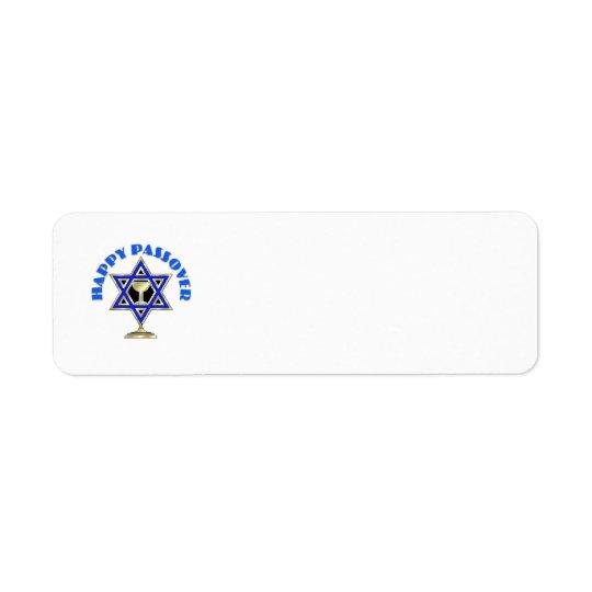 Happy Passover Return Address Label